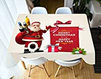 LSN テーブルクロス、様々な素材クリスマス防塵テーブルカバーディナー3Dホームパーティーの装飾,335 * 228センチメートル
