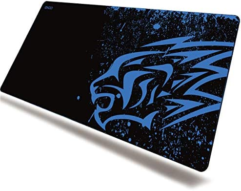 Exco Blue Leopard Thick Smooth Extra Large XL Gaming Mat Smooth Surface Non-slip Rubber Mouse Pad with Designs for Office and Gamers