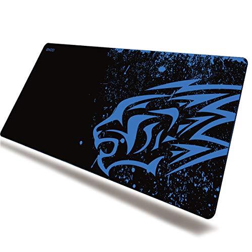 EXCO Extra Large 700 * 300 * 2 mm XL Gaming Matte Glatte Oberfläche für rutschfeste Gummimaus mit Designs für Spieler und Büroarbeit, (XL Blue Leopard)