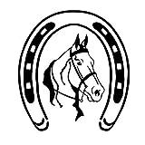 USRGSD Etiqueta del Coche Car Styling Horseshoe Y Classic Horse Head Car Body Decal Creative Sticker