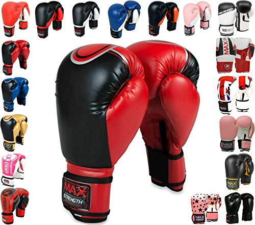 MAXSTRENGTH Professionelle Boxhandschuhe...