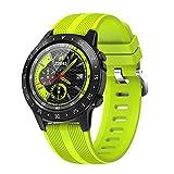 QLK Smart Watch, Reloj de GPS Inteligente de los Deportes de M5S de los Hombres, con la altitud al Aire Libre del barómetro de la brújula de la Tarjeta SIM, Adecuada para Android iOS,A