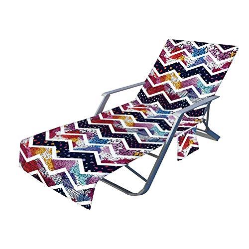libelyef Cubierta para silla de piscina, toalla de playa de 82 pulgadas, suave de secado rápido, antideslizante, con bolsillo lateral para piscina y playa