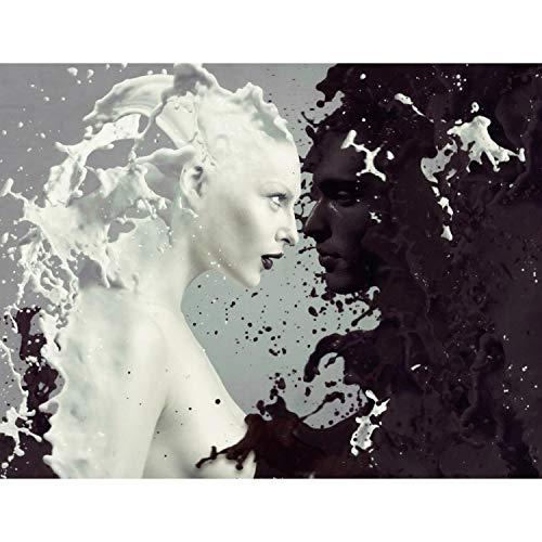 Fototapeten Milk & Coffee Schwarz Weiß 352 x 250 cm Vlies Wand Tapete Wohnzimmer Schlafzimmer Büro Flur Dekoration Wandbilder XXL Moderne Wanddeko - 100% MADE IN GERMANY - Runa Tapeten 9048011a