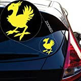 Chocobo Final Fantasy 7 Decal Sticker for Car Window, Laptop Room (5.5' inches (Yellow)