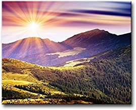 So Crazy Art Wall Art Painting Mountains Sunrise Sunshine Pictures Prints On Canvas Landscape The Picture Decor Oil For Home Modern Decoration Print
