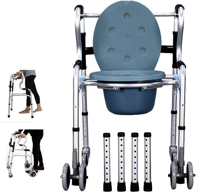 Shower Chair Commode Adjustable Super beauty product restock quality top Walking Max 56% OFF Frame Light Height