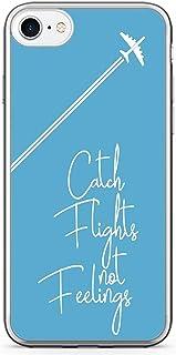 iPhone 8 Transparent Edge Phone case Catch Flights Phone Case Feelings Phone Case Wander Lust iPhone 8 Cover with Transpar...