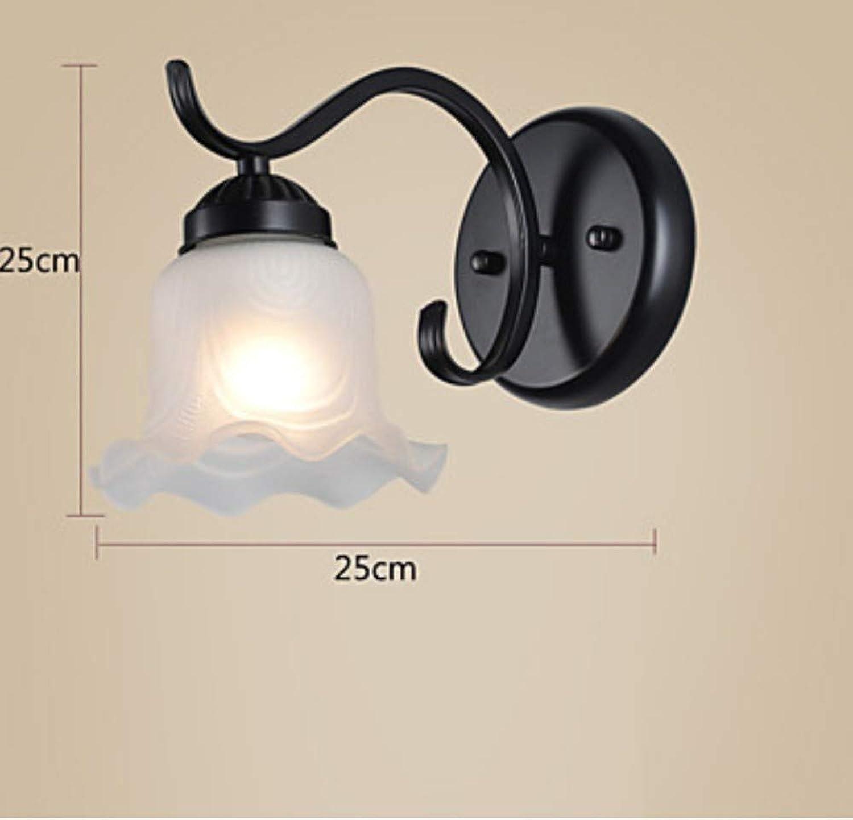 Moderne wandleuchte glas bad beleuchtung eisen lampe metall led wandleuchte beleuchtung, b