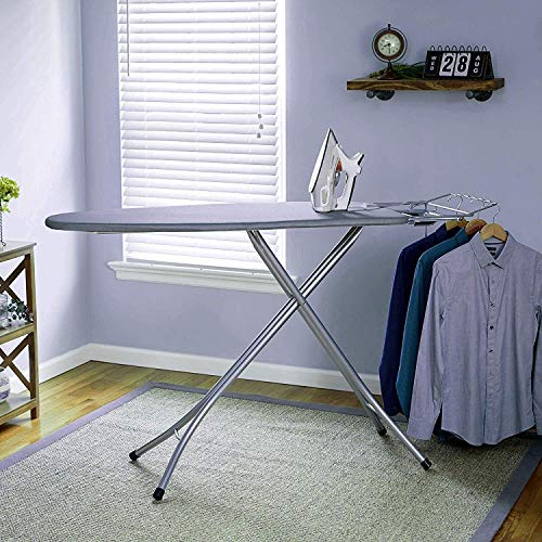 AYSIS International Quality Sasimo Grey Ironing Board with Press Holder, Foldable & Height Adjustable/Ironing Board with Multi-Function Ironing Table/Ironing Board Covers with Foam pad