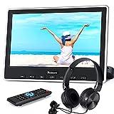 NAVISKAUTO Lettore dvd per auto poggiatesta, monitor da 10.1 pollici, cuffie dotate, con adattatore, supporta HDMI/Regione free/USB/SD/AV-in/AV-out/cavo AUX, 18 mesi di garanzia