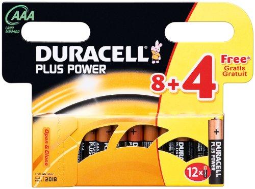 Batterie de 8 piles aAA micro (4 pièces) duracell-plus power