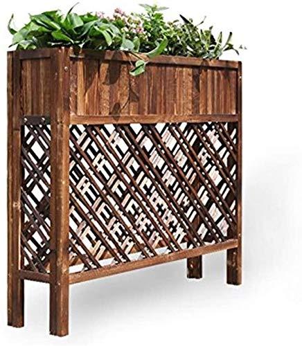 Partición exterior de celosía de madera caja de flores flor de madera maciza pantalla pantalla olla cafetería macetero restaurante,A