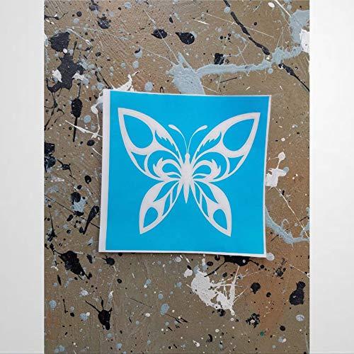 Stencil I Butterfly Crafting Stenciling Gekko vinilo pegatinas de pared y murales | Art Wall Decal | Mural extraíble para decoración del hogar para dormitorio, sala de estar, guardería en interiores.