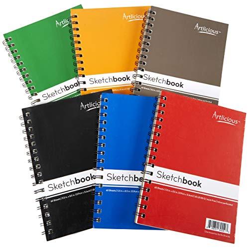 Artlicious 6 Sketch Books Classroom Pack - 5.5