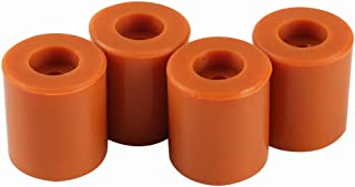 BCZAMD Heatbed Silicone Leveling Column, 3D Printer Hot Bed Mounts Column Stable Tool Heat-Resistant Silicone Buffer for Prusa i3 Plus Anet A8 Wanhao D9 Mega, 4 Pack Brown