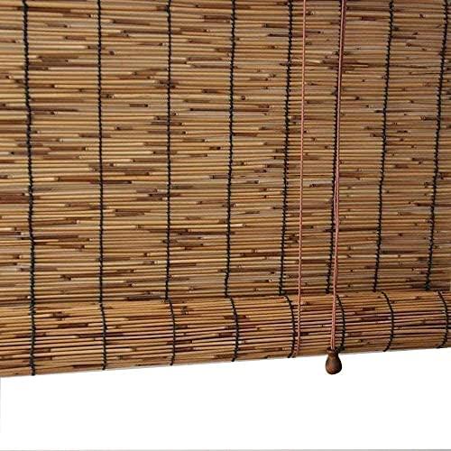 JXQ Reeds Carbonization Natural Reed gardin, bambu rollo, för dekorativa gardiner utomhus/terrass/dörr/fönster, solskyddsmedel/termisk isolering (Size : 120x140cm/47x55in)