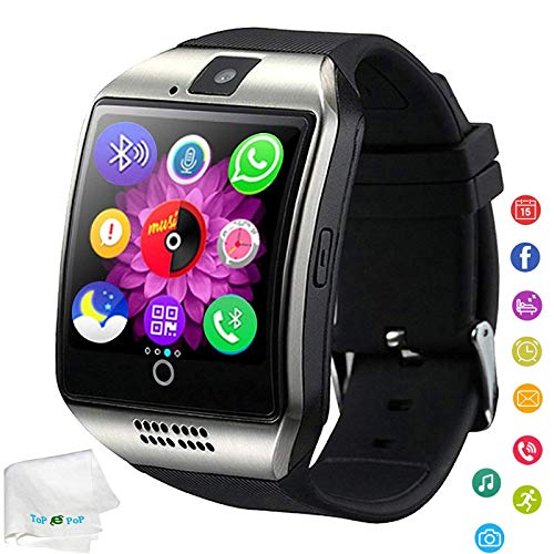 Bluetooth Smart Watch Touchscreen Wrist Watch Unlocked Watch Fitness Tracker Facebook Call Sync Remind Smartwatch with SIM Card Slot Compatible Ios Android Samsung Galaxy S10 S9 S8 Huawei LG Men Women