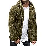 Chaqueta de forro polar para hombre con capucha, cálida de invierno de manga larga, bolsillos sueltos, tallas grandes, ropa de exterior gruesa