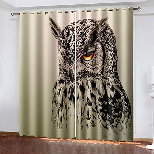 YUNSW 3D-Digitaldruck Polyester-Vorhang, Geeignet Für Wohnzimmer, Schlafzimmer Und Küche, Beschattung Und Geräuschreduzierung, Perforierter Vorhang (Total Width) 234x(Height) 230cm