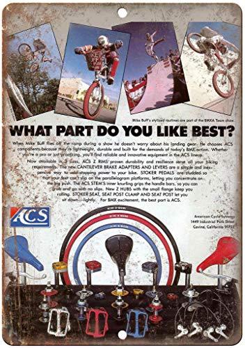"ACS Rims BMX Mag Wheels Vintage Ad 12"" x 9"" Retro Look Metal Sign B457"