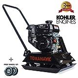 TOMAHAWK 6 HP Kohler Vibratory Plate Compactor Tamper for Dirt, Asphalt, Gravel, Soil Compaction with CH260...
