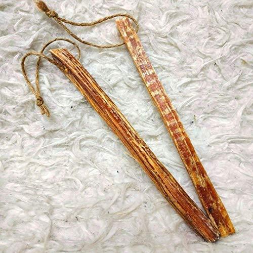 Kienspan - Fatwood - Kienholz Anzünder, 2 Stück an Jute-Schnur, 100 % natürlich, ca. 18 - 20 cm lang, für Bushcraft, Survival, Outdoor