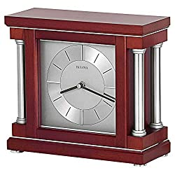 Bulova B7651 Ambiance Tabletop Clock, Dark Wine