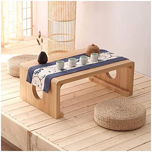 Eortzzpc Sofa Side Table, Kaffeetische Massivholz Zen Japanisch Tisch Kang Tisch Home Niedrig Tisch Bucht Fenster Kleine Tabelle Balkon Teetisch Tatami Couchtisch Endtische (Farbe: a),End Table for