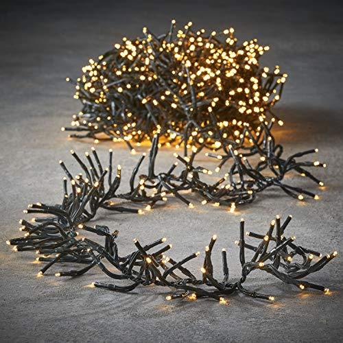 luca lighting Cluster Light Weihnachtsbeleuchtung, PVC, klassisch warm weiß, 800 Zentimeter