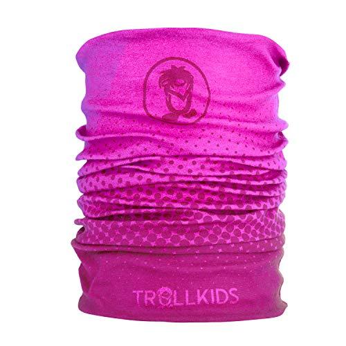Trollkids Kinder Troll kuscheliges weiches Multifunktionstuch, Dunkelrosa/Hellrosa, Größe OneSize