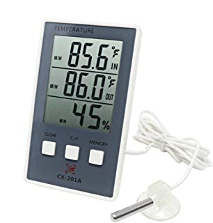 Blanco Term/ómetro electr/ónico infrarrojo MezzenoBaby sin bater/ía LCD Digital sin Contacto Term/ómetro infrarrojo IR Medidor de Temperatura Frontal SED25
