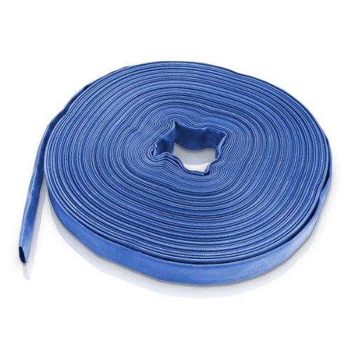 Bradas WAF2B100050 PVC Flachschlauch, 1 Zoll, 50 m, 2 Bar, Blau, 20x20x5 cm