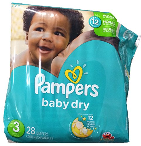 Pampers Baby Dry Diapers, Size 3, 28 Count