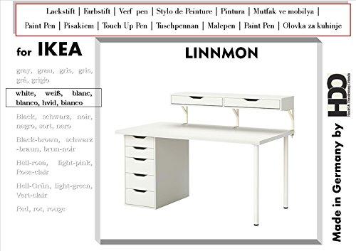 Lackstift Fabrstift Touch-Up-Pen for IKEA Linnmon white
