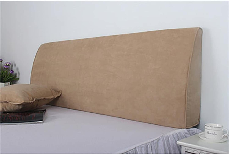 FLHSLY Coussins triangulaires Multifonctions Dossier Lombaire Coussins de Soucravaten Coussins de Lecture Coussins de cale arrière, lumière marron, 180cm
