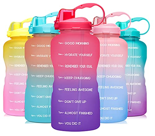 Venture Pal 64 OZ Water Bottle with Motivational Time Marker...