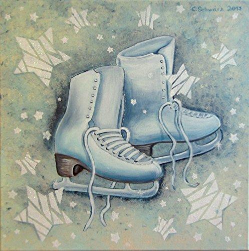 Acrylgemälde WINTER JOY 50cmx50cm Original