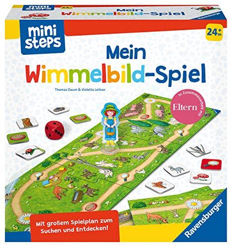 Ravensburger ministeps 4175 Mein Wimmelbild-Spiel, Erstes Spiel zum Tiere-Suchen und Zählen-Lernen, Mit mitwachsendem Spielplan, Spielzeug ab 2 Jahre
