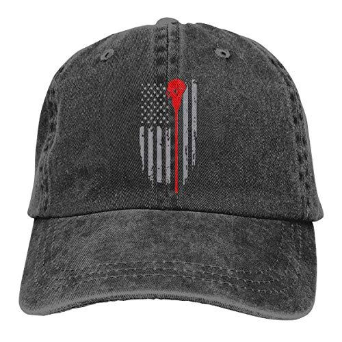 Trucker Hat Bandera Americana Palo De Lacrosse Denim Teñido En Hilo Ajustable Deportes Al Aire Libre Compras Duradero Clásico Hip Hop Sombreros De Camionero Pesca Protección Solar