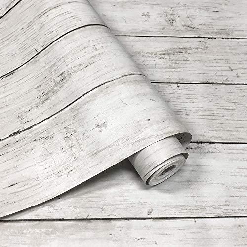 壁紙シールYYTリメイクシート木目リメイクシール木目木目シール木目シート木目調シール模様替え多用途はがせるおしゃれ45cm×10M一巻防水防汚防カビ耐熱のり付きアンティーホワイト