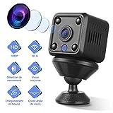 YOHOOLYO Mini Camera Espion WiFi Full HD 1080P Caméra Cachée Portable sans Fil Micro Caméra Surveillance avec Vision Nocturne et Détection de Mouvement pour Intérieure/Extérieure