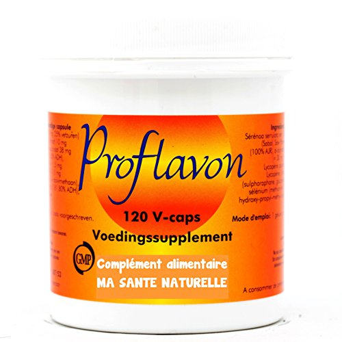 Ma Santé Naturelle - Proflavon (formula per la prostata), 600mg, 120capsule vegetali (palma nana, zinco, vitamina E naturale, licopene, broccoli)