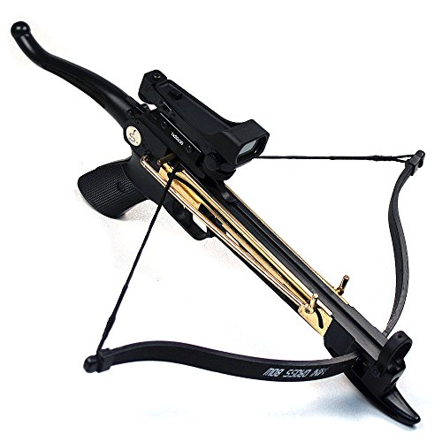 Ace Martial Arts Supply Cobra System Self Cocking Pistol Tactical Crossbow, 80-Pound (Red Dot Scope with 39 Arrows and 2 Strings)