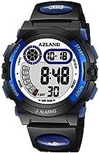 AZLAND Updated Version Added Three Alarms - Multifunctional Waterproof Boys Girls Watch Digital Sports Kids Watches,Dark Blue