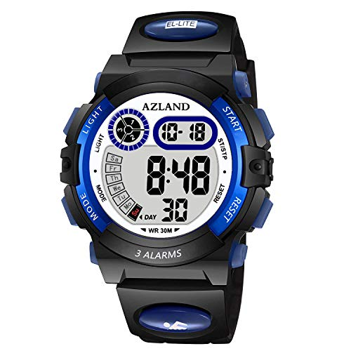 AZLAND Updated Version Added Three Alarms - Multifunctional Waterproof Boys...