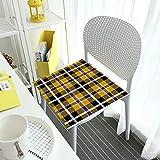 Cómodas almohadillas de asiento para sillas de comedor, cojín de tartán Cornualles, pequeño cuadrado extraíble cubierta interior al aire libre, sala de estar, patio, oficina, cafetería