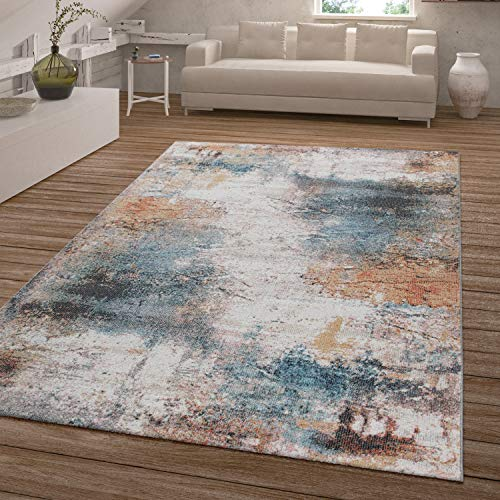 TT Home Alfombra Pelo Corto Balcón Terraza, Exterior Interior, Aspecto Usado Multicolor, Größe:160x230 cm