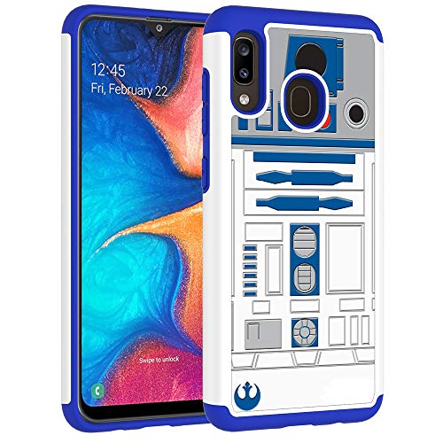 Samsung Galaxy A30 Case,Galaxy A20 Case - R2D2 Droid Robot Pattern Shock-Absorption Hard PC and Inner Silicone Hybrid Dual Layer Armor Defender Protective Case Cover for Samsung Galaxy A30/A20