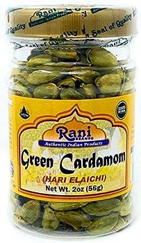 Rani Green Cardamom Pods Spice  Hari Elachi  2oz  56g  PET Jar ~ Natural   Vegan   Gluten Friendly   NON-GMO
